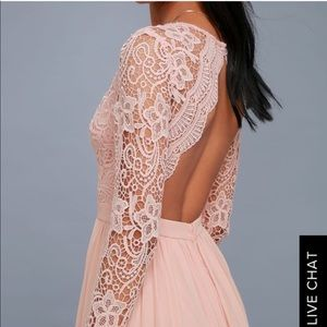 Pink lace maxi